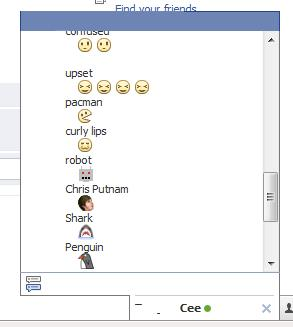 Facebook Chat Emoticons List