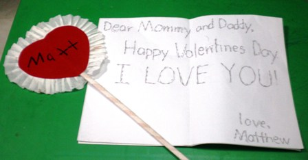 valentines card message from son