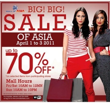 SM Mall of Asia 3 day sale june 2011