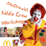 McDonalds Kiddie Crew Wordshop 2011, Schedule, Participating Stores