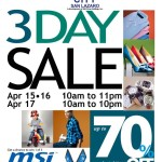 SM City San Lazaro 3 Day Sale