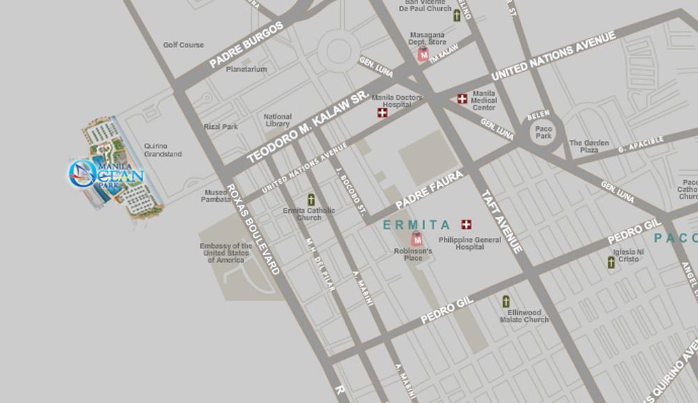 Manila Ocean Park map