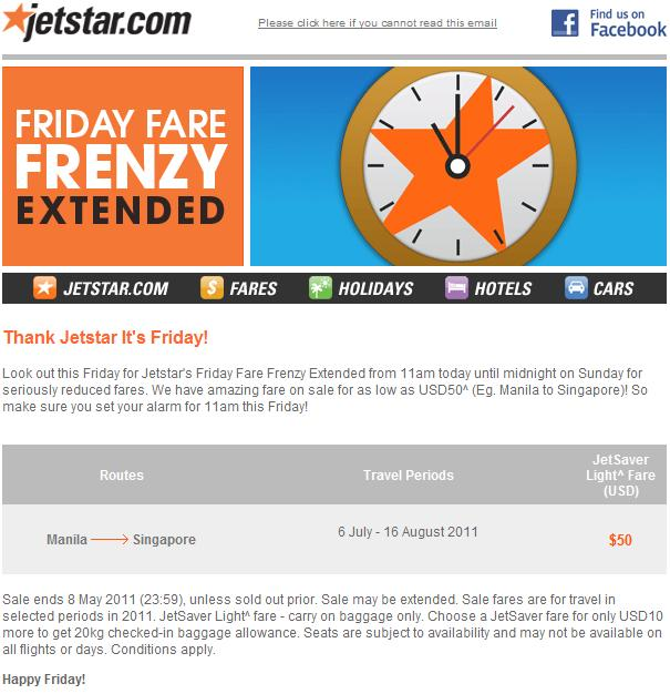 jetstar promo june 2011