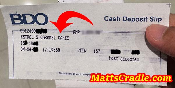 estrels cake payment sample