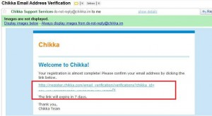 """Chikka messenger email confirmation"""