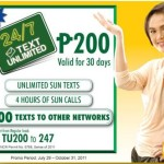 Sun Cellular Unlimited call and unlimited text Cheapest Promo