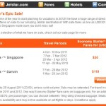 Jetstar Airways Manila to Singapore for $30 Only