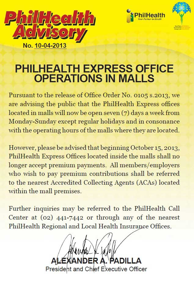 philhealth branches open on saturday sunday