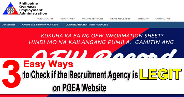 agency with poea license