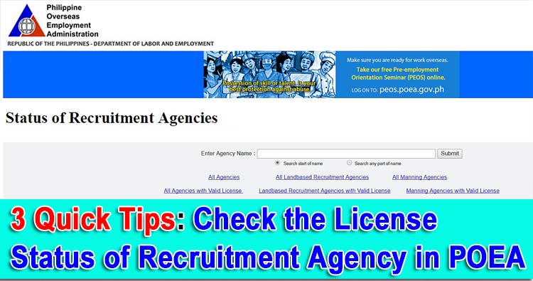 poea accredited agency list