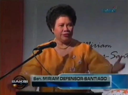thesis on miriam defensor santiago Miriam defensor santiago 5,104 views 7:10 fast talk with sen miriam defensor-santiago - duration: 8:39 manila bulletin online 19,918 views 8:39.