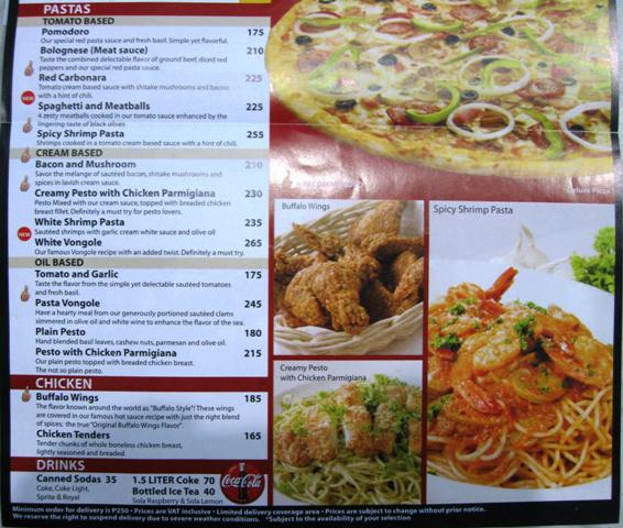 Brooklyn Pizza Philippines, Menu, Delivery Number