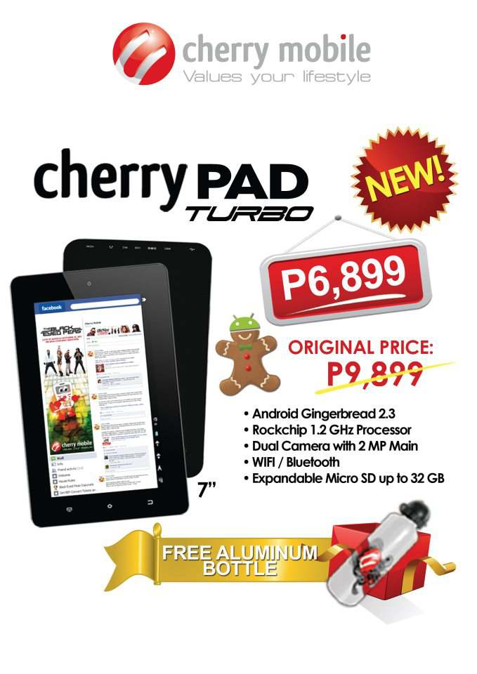 Cherry Mobile Cherry Pad Turbo, Price, Specs, Picture