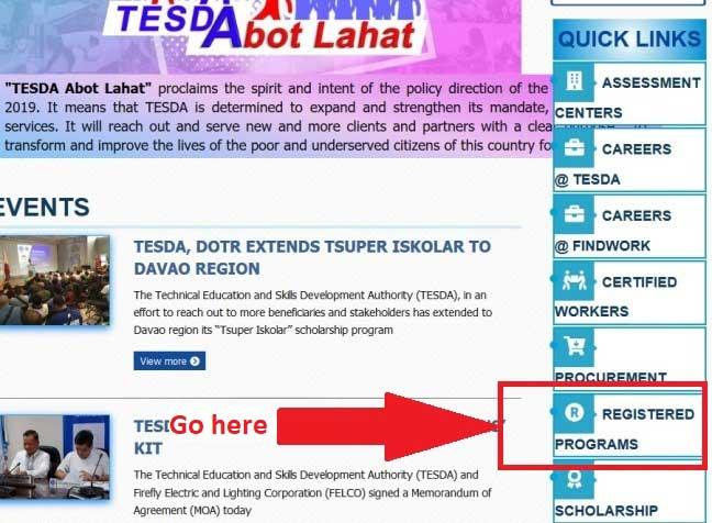 how to enroll tesda