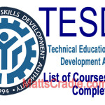 200+ Tesda Courses (List) in 2016, and Enrollment Requirements (Complete)