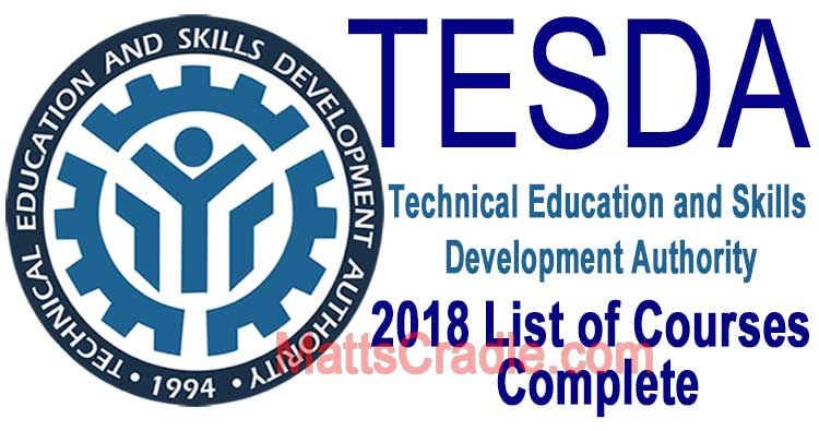 201 Tesda Courses List In 2018 And Enrollment