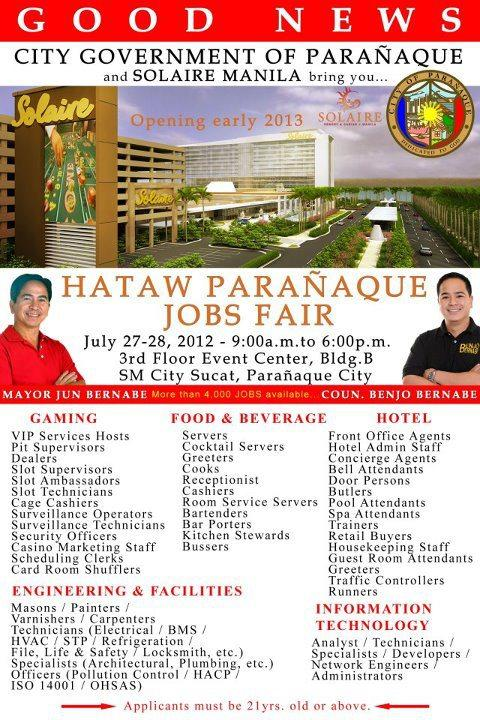 Hotel solaire job openings