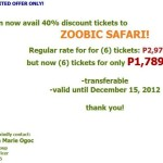 Zoobic Safari Promo Rates (Latest)