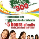 Sun Text Unlimited TU 300 Promo Details