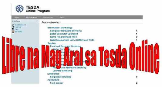study for free in tesda