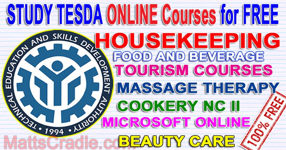 tesda online free courses