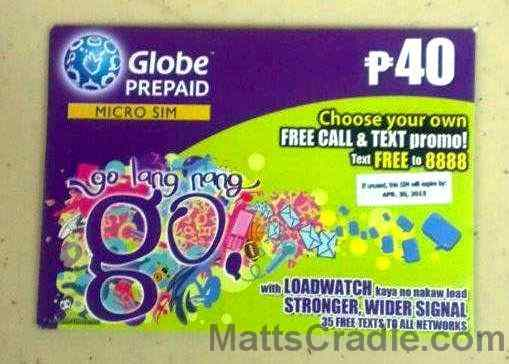 globe micro sim card