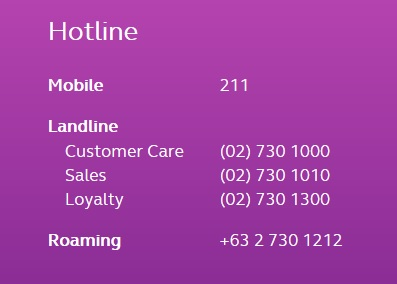 talk2globe hotline numbers