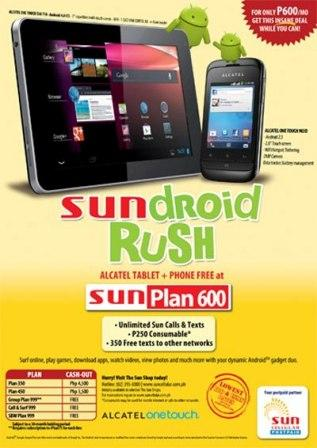 sun cellular alcatel one touch tab and phone bundle promo. Black Bedroom Furniture Sets. Home Design Ideas