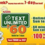 Sun Cellular Text Unlimited 60 (Sun TU60) Promo