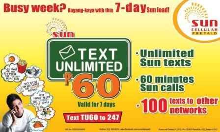 sun cellular tu60 promo