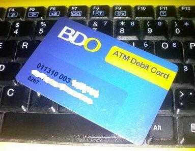 bdo atm card picture