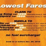 Tiger Airways Lowest Promo Fares, Travel Periods for 2013