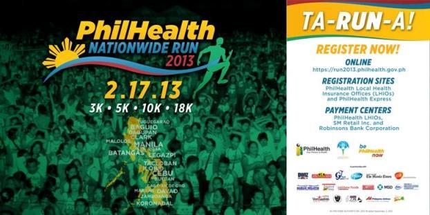 PhilHealth Nationwide Run 2013 Tarpaulin