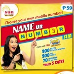 Sun offer Name Ur Number SIM