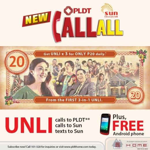 PLDT Sun Call All Offer Unli Calls to Landline and Unli Calls and