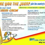 Cebu Pacific Cabin Crew Job Fair in Manila