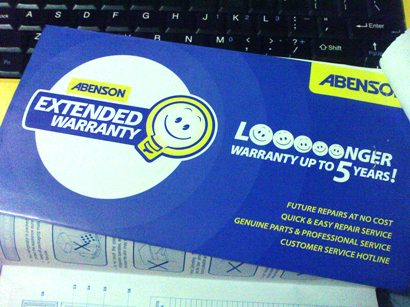 aircon warranty for parts and labor sample photo