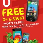 Buy O+ 8.12 Android Phone and Get a Free O+ 6.3 WiFi Handset