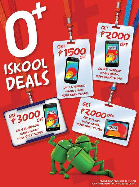 O+ Phones and tablets price list in back to school sale
