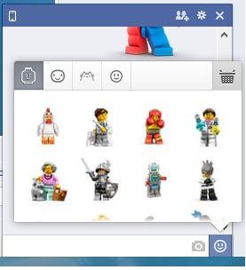 Facebook lego minifigure stickers