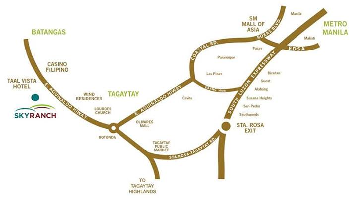 Sky Ranch Tagaytay Map