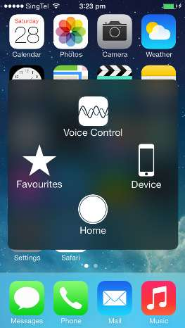iphone home button on screen