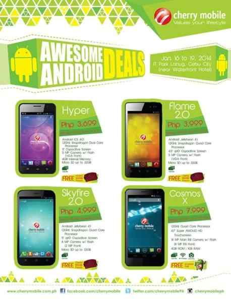 cherry mobile android phones latest price list 2014