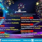 The 5th Philippine International Pyromusical Competition Schedule, Ticket Price