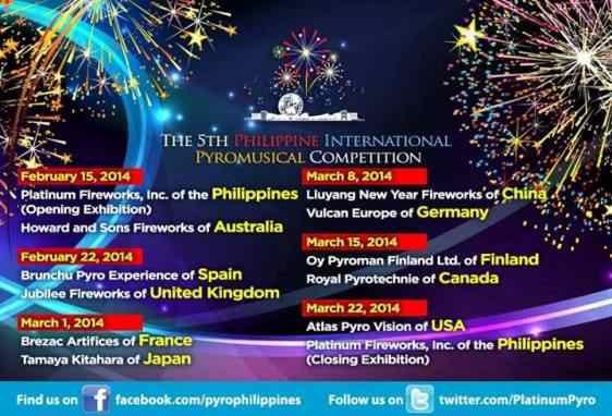 Fifth Philippine Pyromusical International Competition philippines