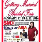 SM Mall of Asia Bridal Fair January 2014 Schedule