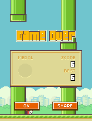 flappy bird top score