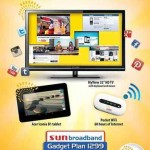 Sun Broadband Gadget Plan 1299 Offers Smart TV, Tablet, and Pocket WiFi
