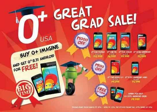 O+ great grad sale 2014