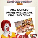Mcdonalds Kiddie Crew Workshop Schedule and Fees for 2014